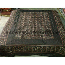 Silk Embroidery Bed Cover Sari Jaal