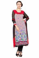 Designer Printed Styling Indian Pakistani Style Long Suit