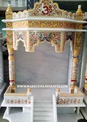 White Marble Carved Indoor Temple