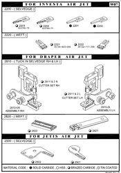 Investa / Draper / Jettis Air Jet Loom Assemblies