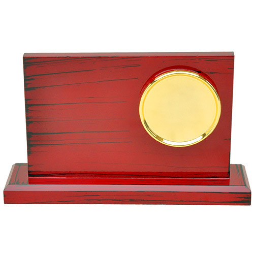 Golden Medal On Rectangle Plaque