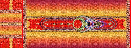 Designer Digital Printed Kaftan Fabric