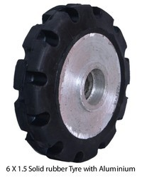 Solid Rubber Tyre With Alluminium Core