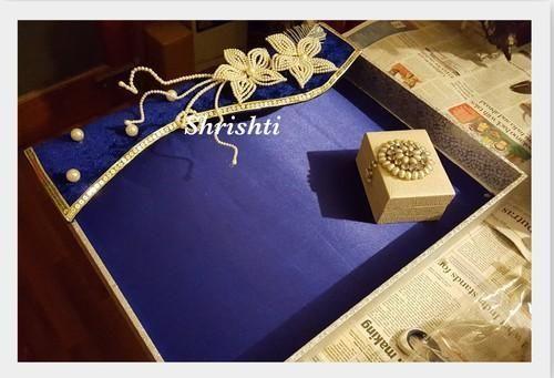 Blue Saree Packing Tray