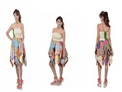 Patchwork Diamond Cut Skirt
