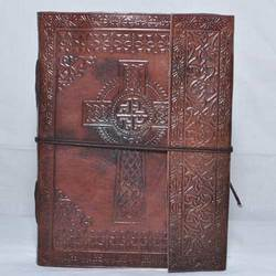 Junkyard Leather Journal Diary With Handmade Paper- Prism
