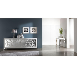 P12 Bianco Arte Intarsio Console Table