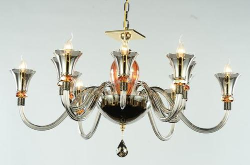 Smokey Crystal Chandelier