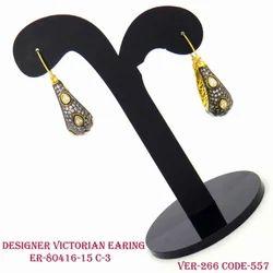 Diamond Fancy Victorian Earrings