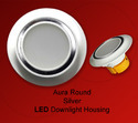 Round Aura Silver LED Downlight Housing