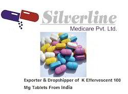 K Effervescent 100 Mg Tablets