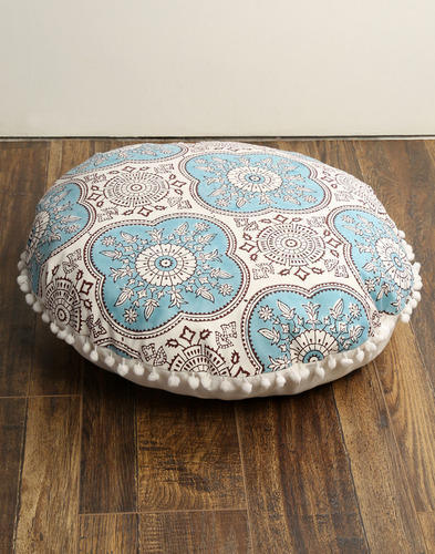 Home Decor Cotton Printed Floor Cushion Cover