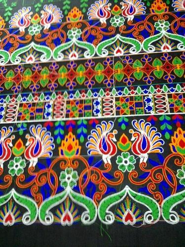 Embroidery Cloth Tapeta Embroidery Work Cloth Manufacturer From Surat