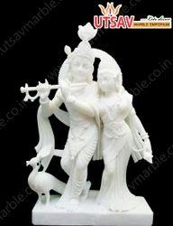 Makrana White Marble Radhe Krishna Jugal