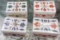 Inlaid Design Marble Box