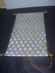 Blank Brocade Fabric Scrolls For Invitation Makers