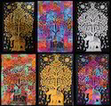 Multicolor Elephant Mandala Tapestry