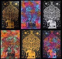 Multicolor Elephant Mandala Tapestry