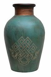 Terracotta Printed Pot