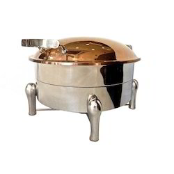 Grand Round Hydraulic Rose Gold Finished Chafer