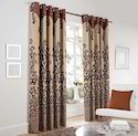 Heavy Jute Designer Panel Door Curtain
