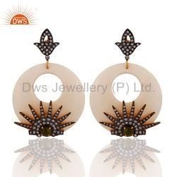 Designer Zircon Bakelite Drop Fashion Earrings