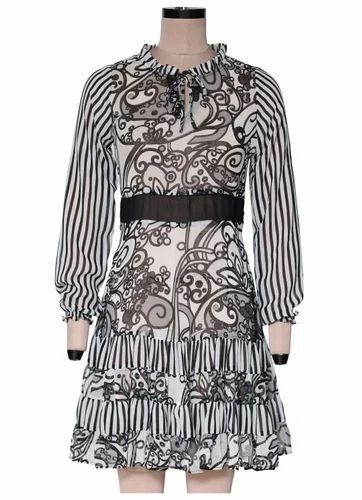 Lore Printed Short Dress EGT068A