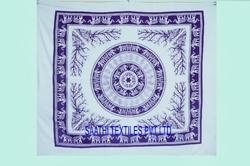 Elephant , Mandala , Printed Tapestry Indian