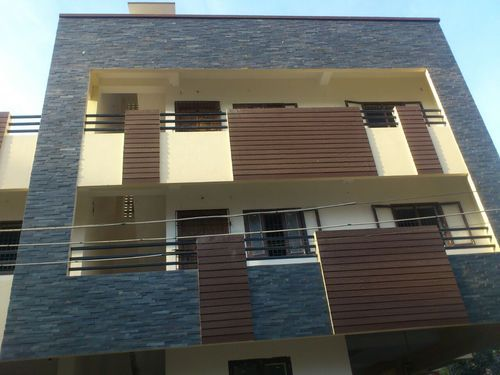 Elevation Stone Cladding : Home front elevation colours house design indian
