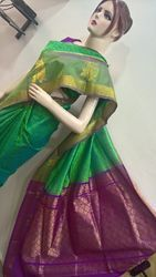 Silk Embroidery Saree with Butta Work