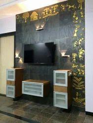 Slate Stone Mural Concepts - LED Wall