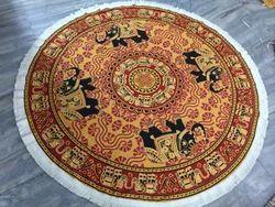 Mandala Elephant Round Indian Printed Tapestries