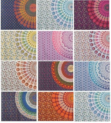 Twin Mandala Tapestry Cotton Bedspread TP2