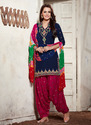 Fancy Unstitched Patiala Suit