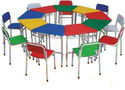 Multi Colour Round Table with Chairs