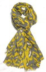 Poly Voile Animal Print Stole
