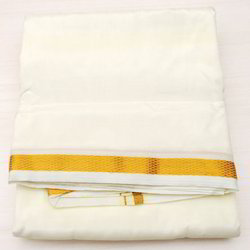 Scot Wilson Pure Silk Dhoti and Angavasthra