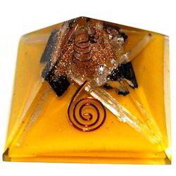 Orgone Pyramid with Black Gems