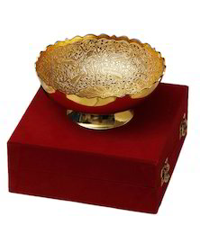 VESPL Gold Plated Brass Bowl