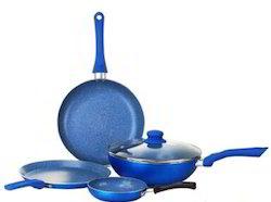 Blue Granite Gift Set Nonstick Pan
