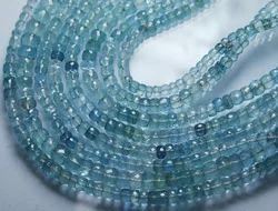AAA Blue Aquamarine Faceted Rondelles