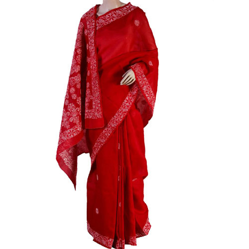 Light Embroidery Pattern Saree