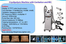 Cryolipolysis Slimming Machines with Multipolar RF& Vacuum