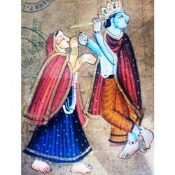 Painting of Krishna & Radha Postcard