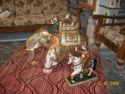 Ambawari Elephant And Horse Statues with Raja Rani