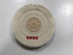 White Muslin Buffs 4 x 50