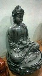 Meditating Lotus Buddha Statue