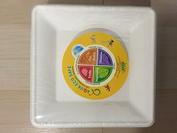 "Sugarcane Bagasse Plates 8"" square"