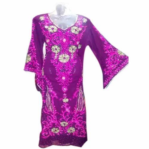 Embroidery Chiffon Kaftan