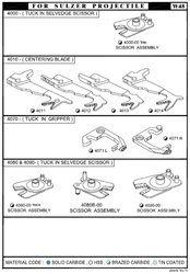 Sulzer Projectile Loom Assemblies